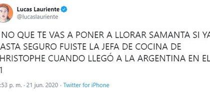 """Los memes y la bronca contra Samanta durante la emisión de la semifinal de """"Bake Off"""" (Fotos: Twitter)"""