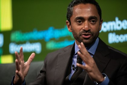 Chamath Palihapitiya, founder and chief executive officer of Social Capital LP, speaks during the Bloomberg Business of Equality conference in New York, U.S., on Tuesday, May 8, 2018. The conference brings together business, academic and political leaders as well as nonprofits and activists to discuss the future of equality, how we get there and what is at stake for the economy and society at-large.