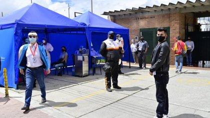 Puntos de toma de muestras en Bogotá. Foto: Alcaldía Mayor de Bogotá.