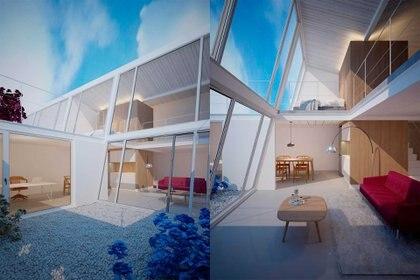 """Los lofts son unidades de doble altura, sin divisiones, donde el entrepiso """"balconea''. (Foto: Hermanos Goldenberg)"""
