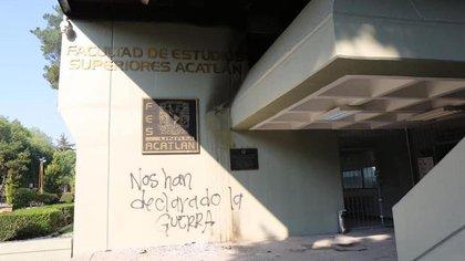 Se le accusa de dañar las instalaciones de la FES Acatlán (Foto: Archivo)