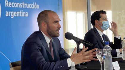 Martín Guzmán, junto a su par de Interior, Eduardo de Pedro