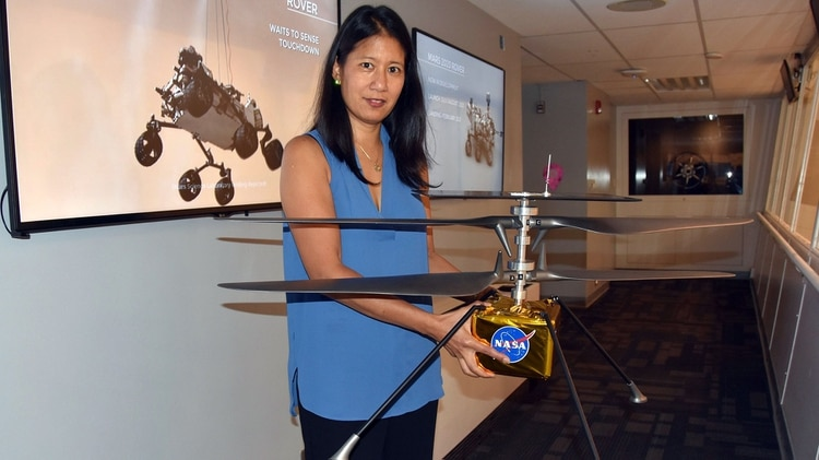 MiMi Aung, gerente del proyecto del Helicóptero Explorador Marciano