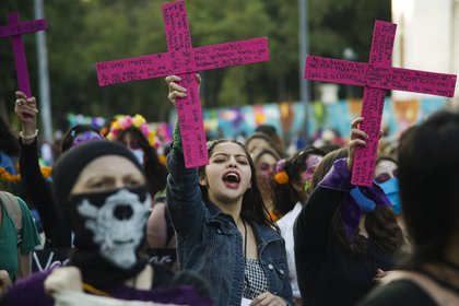 A nivel nacional, Baja California, Chihuahua, San Luis Potosí, Chiapas y Tlaxcala fueron las entidades que registraron un repunte significativo en muertes violentas de mujeres durante el primer bimestre de 2021 (Foto: Claudio Cruz/AFP)