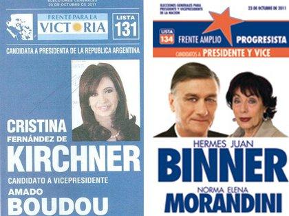 Las boletas de la reelección de Cristina Kirchner