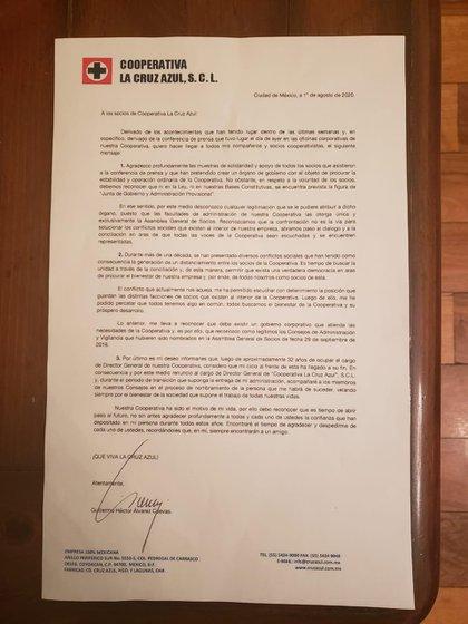 Billy Álvarez renunció a la Dirección General de la Cooperativa Cruz Azul (Foto: Twitter @CiroGomezL)