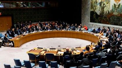 Reunido por videoconferencia a petición rusa, el Consejo de Seguridad de Naciones Unidas (Foto: EFE / Justin Lane)