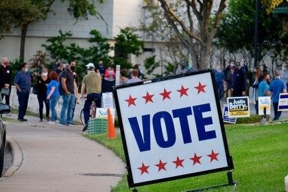 20/10/2020 Un cartel animando al voto en Austin, Texas POLITICA NORTEAMÉRICA ESTADOS UNIDOS INTERNACIONAL KEN HERMAN / ZUMA PRESS / CONTACTOPHOTO