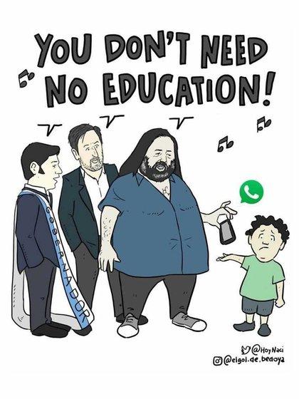 La ilustración humorística hecha por @Elgol.de.bedoya / @hoynaci