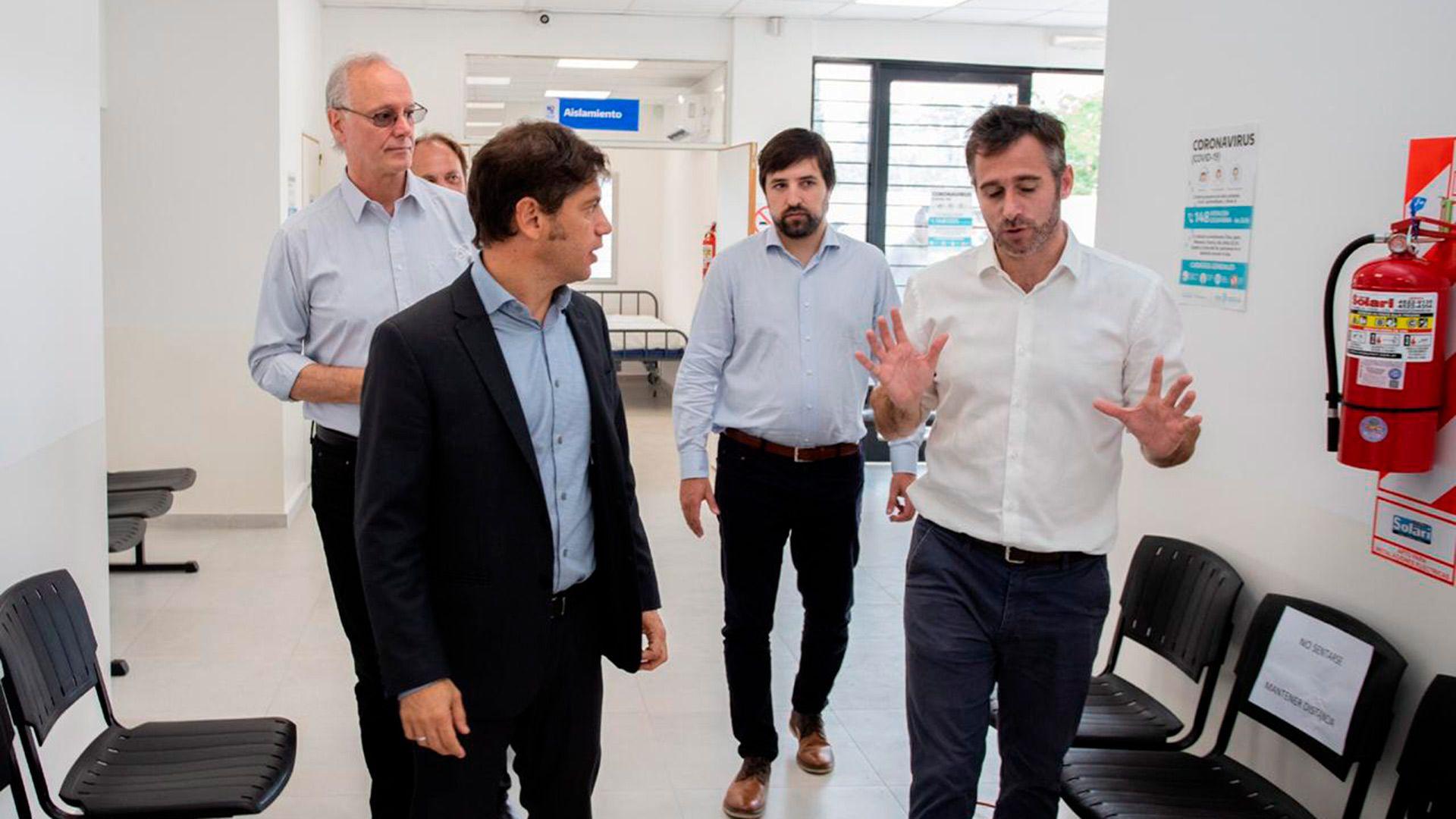 Axel Kicillof recorrió el centro de diagnóstico junto a otras autoridades de la provincia de Buenos Aires