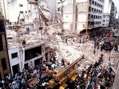 18 de julio de 1994, el horror de la AMIA (Foto: GENTE/Archivo Atlántida)
