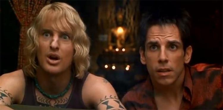 "Owen Wilson y Ben Stiller en ""Zoolander"""