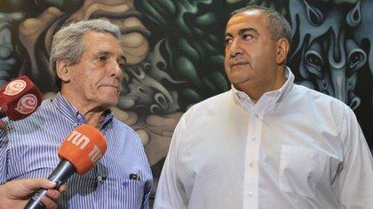 Los cotitulares de la CGT, Héctor Daer y Carlos Acuña