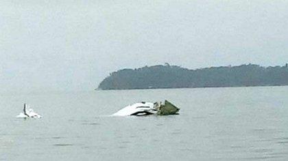 El avión cayó en la costa de Paraty, en la región sur del estado de Río de Janeiro