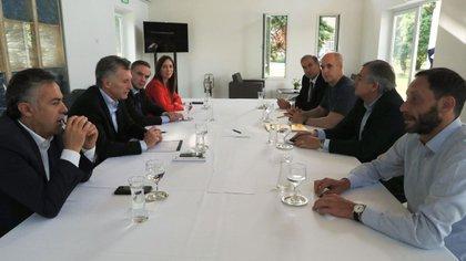 La nueva mesa política con la que Mauricio Macri busca plantarse como referente opositor (Prensa Presidencia)