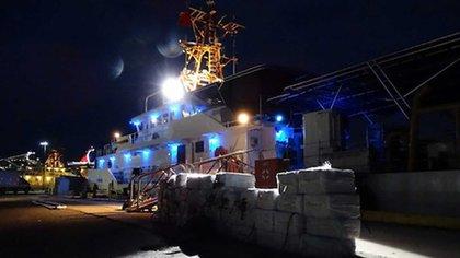 El cargamento de cocaína confiscado hace pocos días en Puerto Rico. Tres dominicanos detenidos
