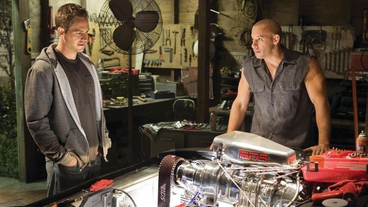 Junto a Toretto, interpretado por Vin Diesel