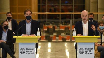 Le jour où Rodríguez Larreta a répondu à Alberto Fernández, qui a réduit sa participation.  Presse GCBA