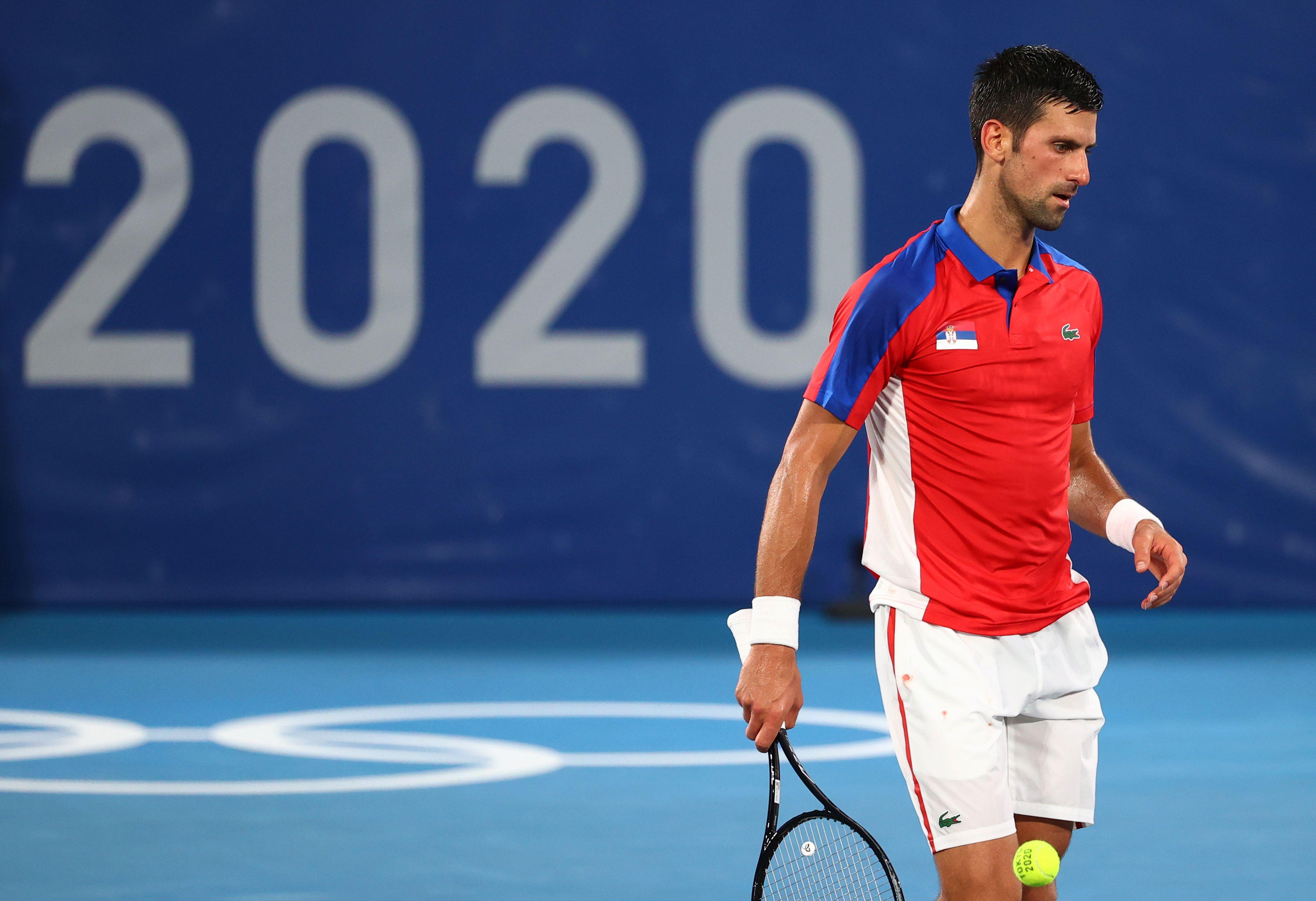 Novak Djokovic fue eliminado de los Juegos Olímpicos de Tokio (REUTERS/Mike Segar)