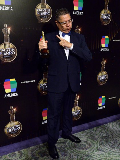 Luis Albornoz, el mejor locutor masculino (Gustavo Gavotti)