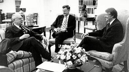 Jimmy Carter, durante una reunión en la Casa Blanca (Shutterstock)
