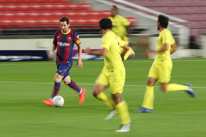 Messi jugó de Falso 9, de punta por la derecha y por momentos en el centro, como armador de juego (Reuters)