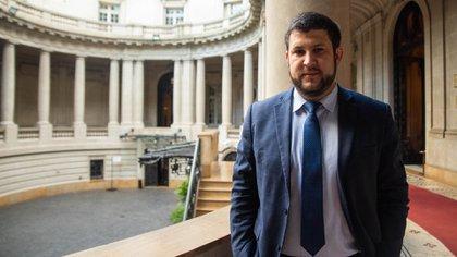 David Smolansky en el Palacio San Martín, en Buenos Aires (Franco Fafasuli)