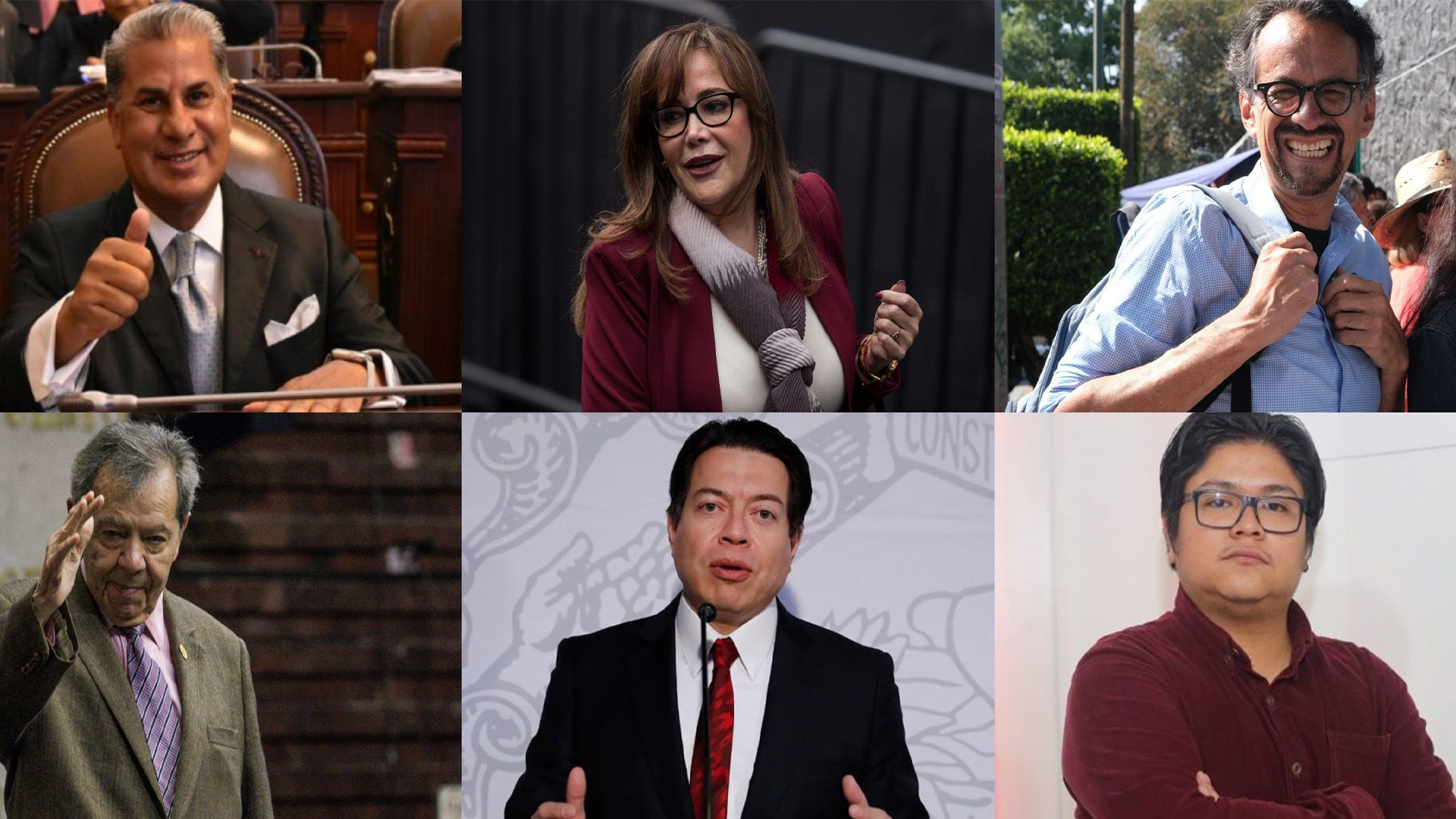 Candidatos Morena (Foto: Cuartoscuro/Twitter@RicardoAlemanMx)