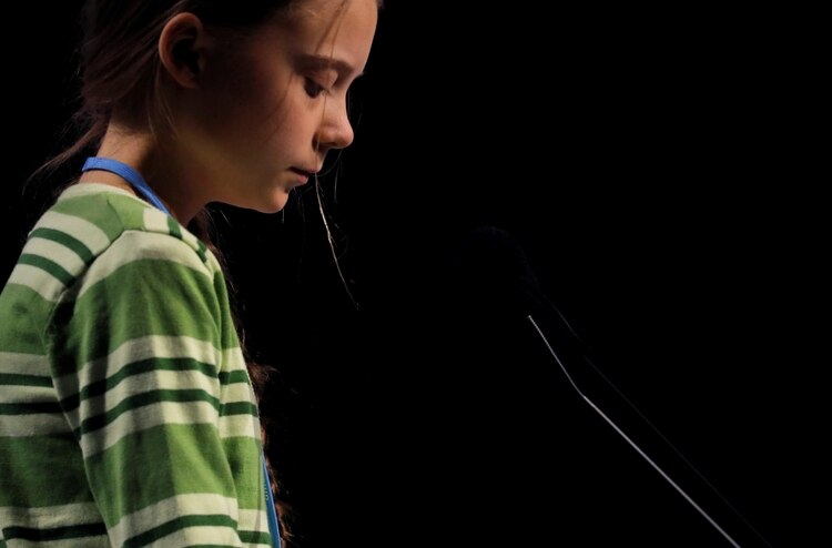 Climate change activist Greta Thunberg speaks at the High-Level event on Climate Emergency during the U.N. Climate Change Conference (COP25) in Madrid, Spain December 11, 2019. REUTERS/Susana Vera