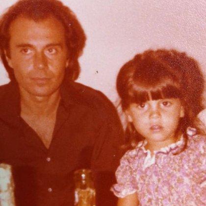 Florencia con su papá