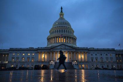 Vista del Capitolio, sede del Congreso de EEUU, en Washington.