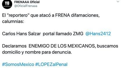 (Foto: Twitter/OficialFrenaaa)