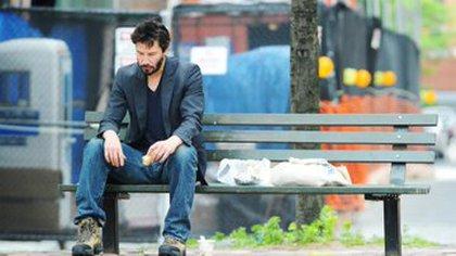 """Imagen del actor que se hizo viral y es mejor conocida como el meme """"Sad Keanu"""" (Foto: Twitter/@robcham)"""