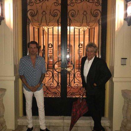 Rod Stewart y su hijo Sean (Instagram)