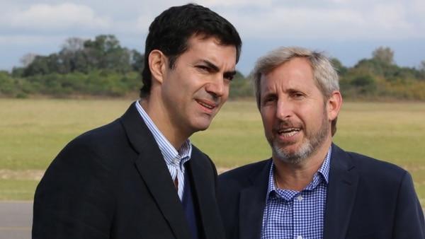 Juan Manuel Urtubey junto al ministro Rogelio Frigerio