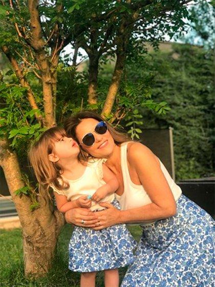 María Fernanda Callejón y su hija