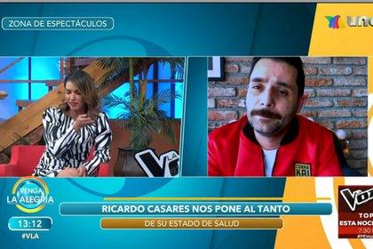 Ricardo también ha tenido problemas de taquicardia y con las cuerdas vocales (Captura de pantalla Venga la alegría)