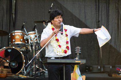 Evo hizo un repaso de sus tres gestiones al frente del ejecutivo boliviano (Franco Fafasuli)