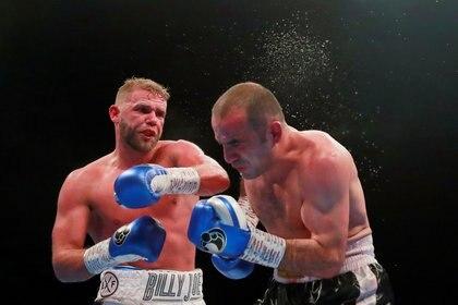 Billy Joe Saunders derrotó por decisión unánime a Shefat Isufi para conseguir el cetro de las 168 libras en mayo de 2019 (Foto: Reuters/Andrew Couldridge)