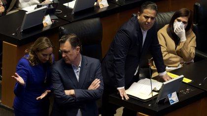 Los senadores panistas buscaban encabezar la presidencia de la Mesa Directiva para el tercer año de la Legislatura (Foto: Andrea Murcia/ Cuartoscuro)