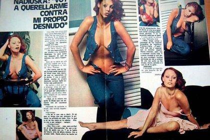 Entrevista de la revista Garbo a Nadisuka en su etapa gloriosa en España. Sensual y provocativa