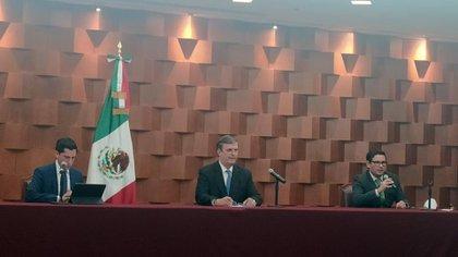Marcelo Ebrard en conferencia sobre el caso de el general Cienfuegos (Foto: Patricia Juárez)