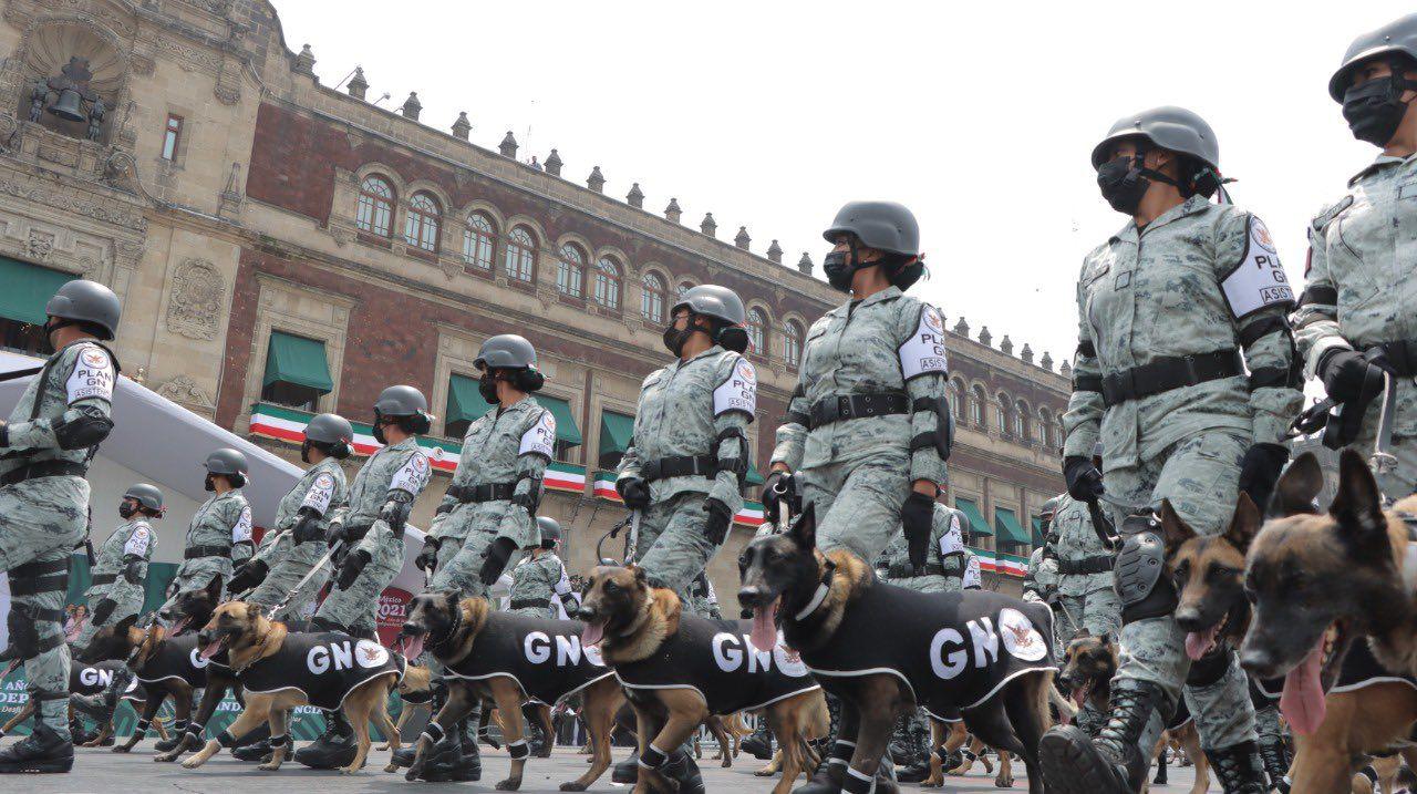 Desfile militar binomios caninos