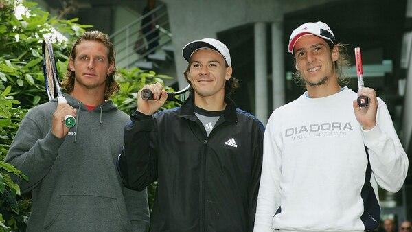 Nalbandian y Coria llegaron a ser 3 del mundo; Gaudio tocó el 5° lugar en el 2005 (Getty)