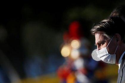 El presidente Jair Bolsonaro llevó a Brasil a una crisis sanitaria, política y económica sin precedentes. Como su colega, Trump, propicia el uso de la peligrosa droga mefloquina como método para prevenir el coronavirus. REUTERS/Adriano Machado