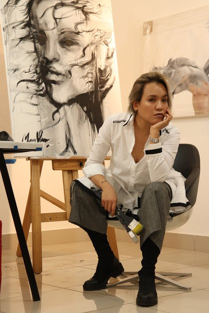 28/02/2020 La artista Man Yu en su estudio ESPAÑA EUROPA MADRID CULTURA EMBAJADA DE COSTA RICA EN ESPAÑA