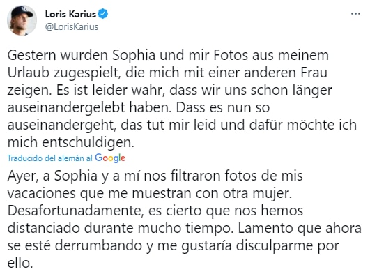 Loris Karius captura tuit