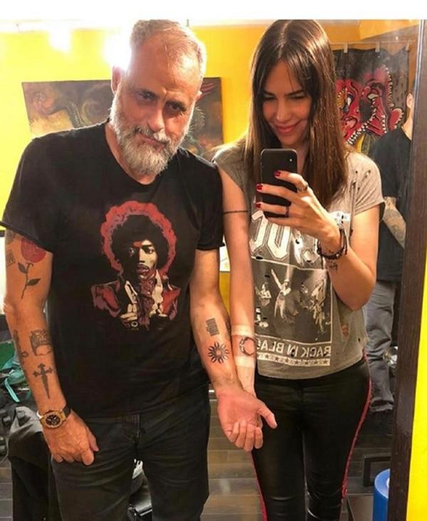 El tatuaje que se hicieron el periodista y la licenciada en nutrición (Instagram)