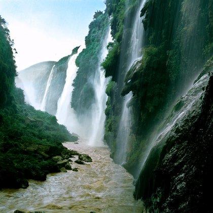 Las magníficas cascadas del río Maling.