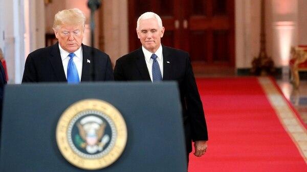 El presidente Donald Trump y el vicepresidente Mike Pence, en la Casa Blanca (Reuters)